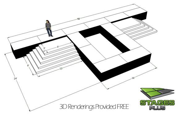 runway 3d rendering