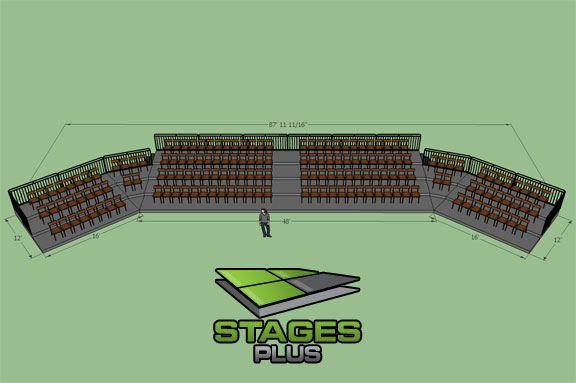 audience seating risers