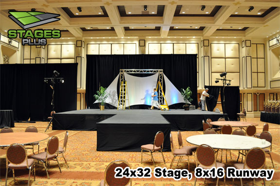 large stage runway