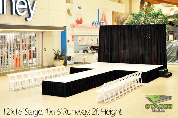 runway white surface drape chairs