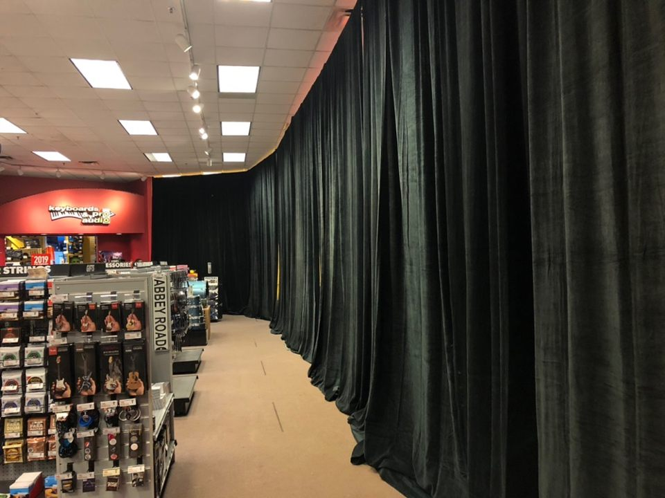 pipe and drape rental orlando stage rental rent portable stages and risers in central florida. Black Bedroom Furniture Sets. Home Design Ideas