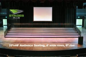 audience riser rental