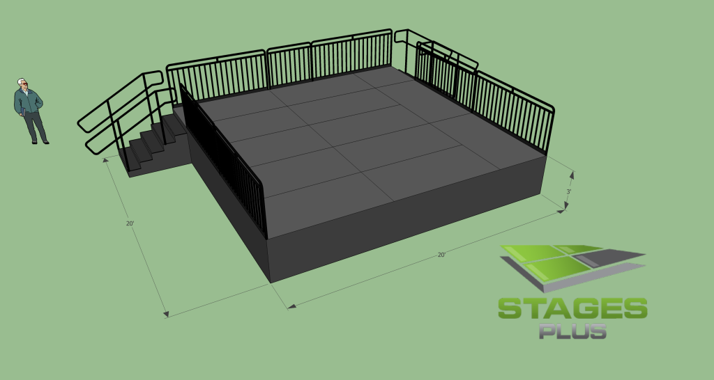 20' x 20' Stage, 3ft Height